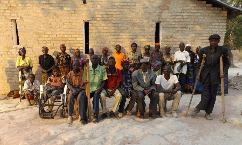 Residents of Lukupa leprosy community